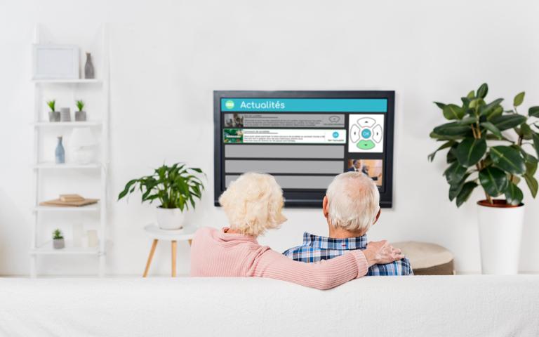 zeebox assistant personnel sur ecran de television pour seniors